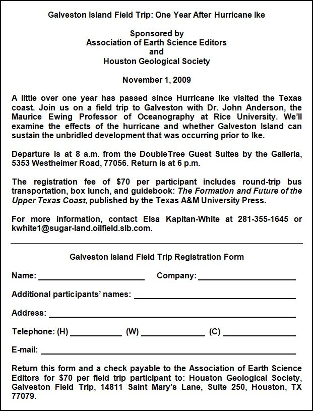 Hgs / Aese Galveston Island Field Trip | Houston Geological Society